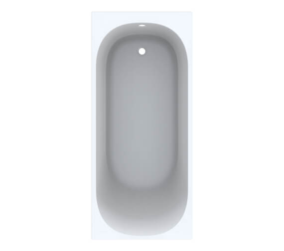 Additional image of Geberit Acanto Single Ended Built In Rectangular Acrylic Bath With Feet