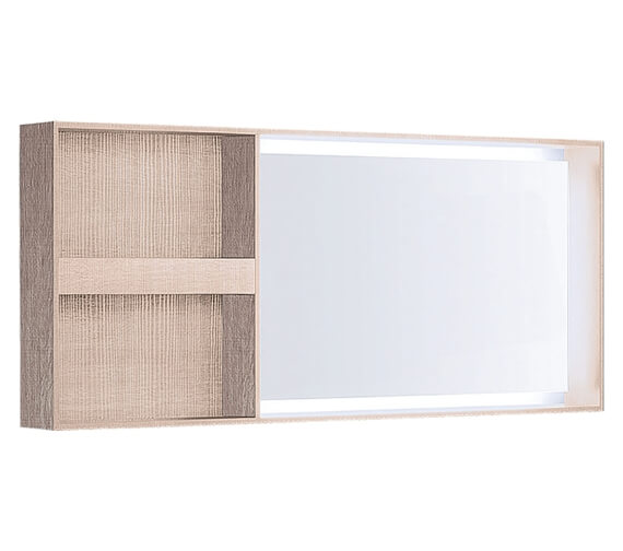 Geberit Citterio Illuminated Mirror With Lateral Storage Shelf