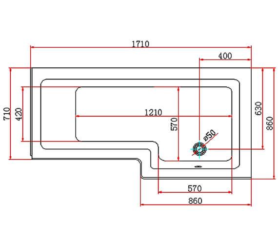 Technical drawing QS-V80493 / 20161