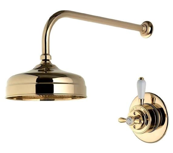 Additional image of Aqualisa Aquatique 8 Inch Drencher Fixed Head And Wall Arm