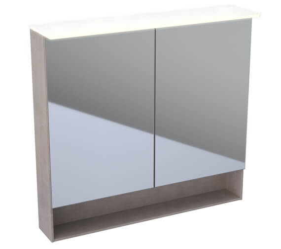 Additional image of Geberit Acanto 830mm High Double Door Mirror Cabinet With LED Lighting
