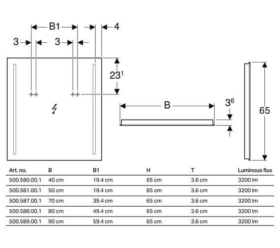 Technical drawing QS-V93722 / 500.580.00.1