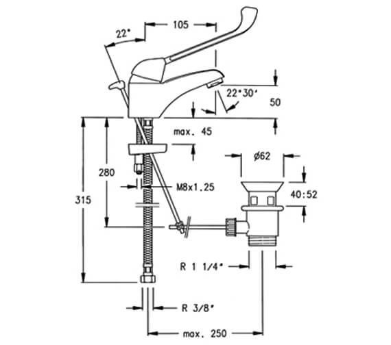 Technical drawing QS-V95374 / 5501.MED