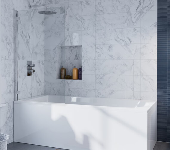 Crosswater Infinity 900 x 1385mm Single Bath Screen