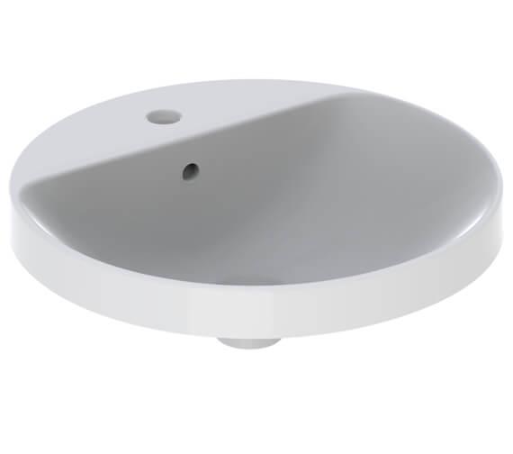 Geberit VariForm 480mm Round Countertop Washbasin With Taphole Bench