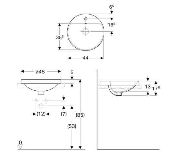 Technical drawing QS-V94615 / 500.704.01.1