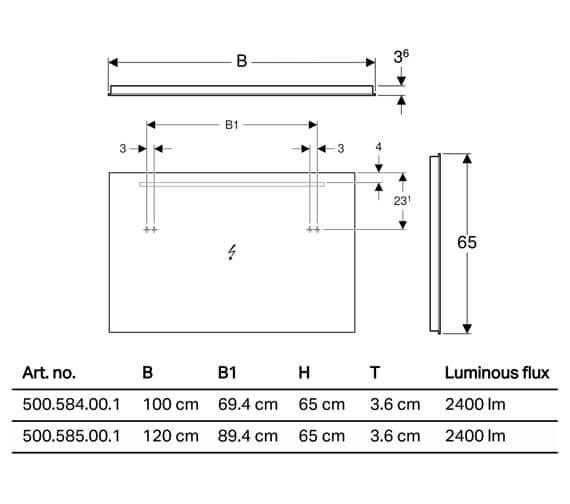 Technical drawing QS-V93723 / 500.584.00.1