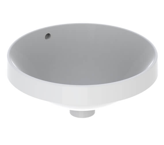 Geberit VariForm 400mm Round Countertop Washbasin White