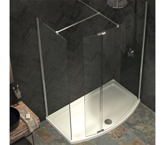 Alternate image of Kudos Ultimate 8mm Curved Panel Shower Enclosure Pack