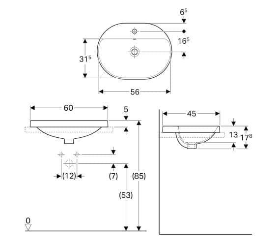 Technical drawing QS-V94619 / 500.732.01.2