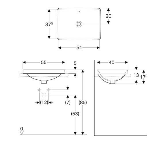 Technical drawing QS-V94620 / 500.736.01.2