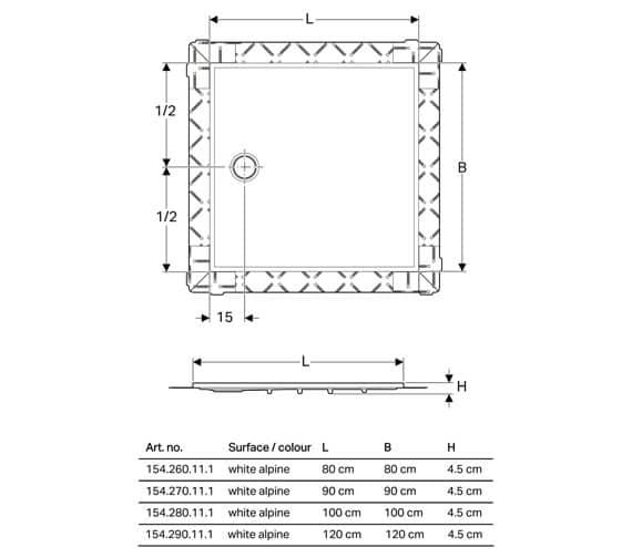 Technical drawing QS-V94570 / 154.270.11.1