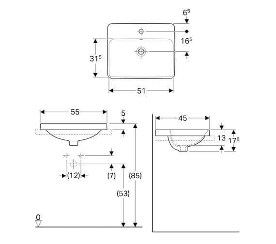 Technical drawing QS-V94621 / 500.740.01.1
