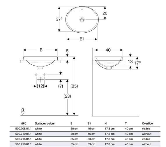 Technical drawing QS-V94616 / 500.708.01.2