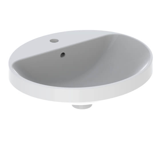 Geberit VariForm Oval Countertop Washbasin With Taphole Bench