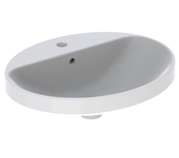Additional image of Geberit VariForm Oval Countertop Washbasin With Taphole Bench