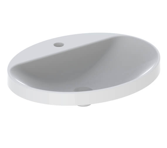 Alternate image of Geberit VariForm Oval Countertop Washbasin With Taphole Bench