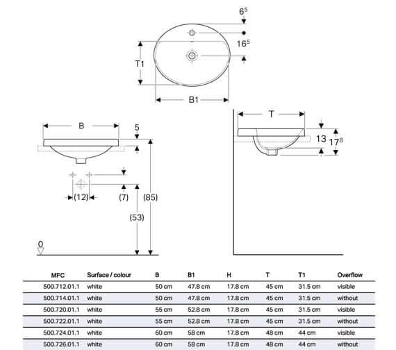 Technical drawing QS-V94617 / 500.712.01.2