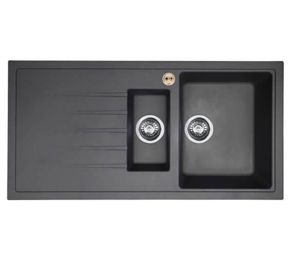 Additional image of Bristan Gallery Quartz Easyfit 1.5 Kitchen Sink - GLL SKQUA1.5 BL