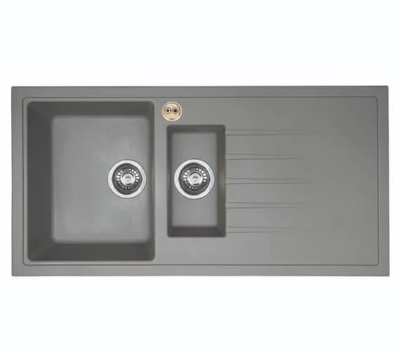 Alternate image of Bristan Gallery Quartz Easyfit 1.5 Kitchen Sink - GLL SKQUA1.5 BL