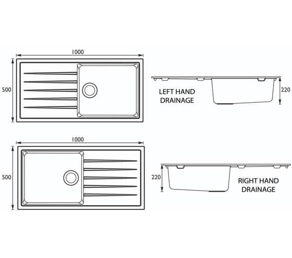 Technical drawing QS-V95415 / GLL SKQUA1 BL