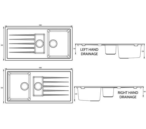 Technical drawing QS-V95416 / GLL SKQUA1.5 BL