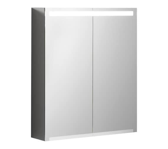 Geberit Option 700mm High Double Door Mirror Cabinet With LED Lighting