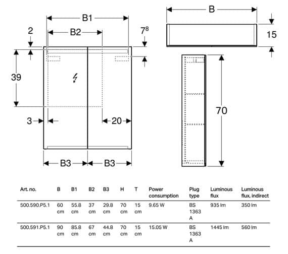 Technical drawing QS-V93724 / 500.590.P5.1