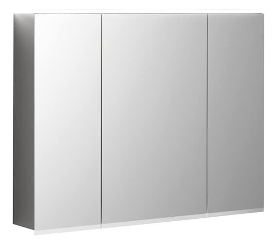 Geberit Option Plus 700mm High Three Doors Mirror Cabinet With LED Lighting