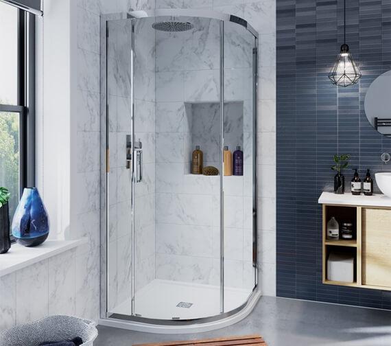 Crosswater Infinity Single Door Quadrant Enclosure 900 x 900mm