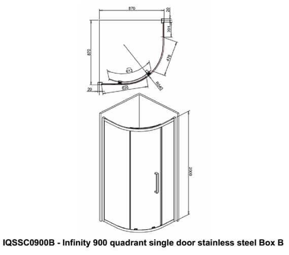 Technical drawing QS-V99555 / IQSSC0900