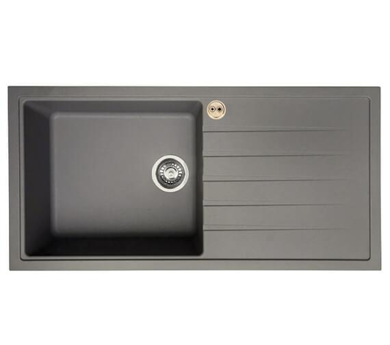 Alternate image of Bristan Gallery Quartz Easyfit 1.0 Kitchen Sink - GLL SKQUA1 BL