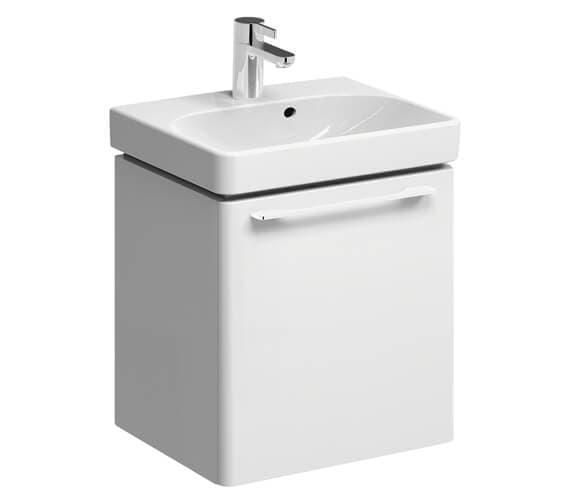 Geberit Smyle 450 x 378mm Single Door Vanity Unit With Handrinse Basin
