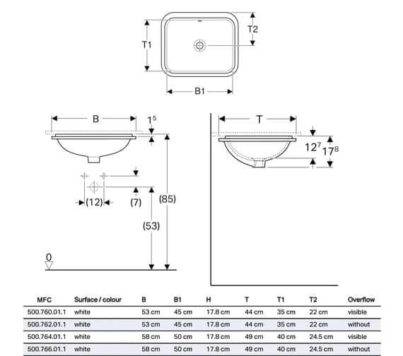 Technical drawing QS-V94625 / 500.760.01.2