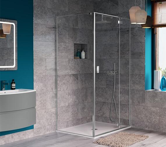 Crosswater Svelte Hinged Shower Door 800mm