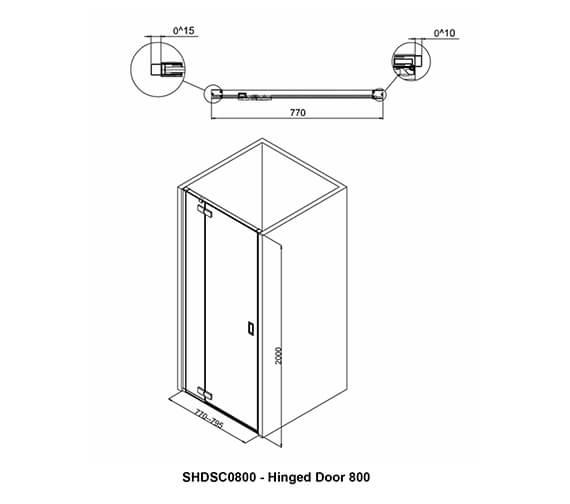 Technical drawing QS-V99041 / SHDSC0800