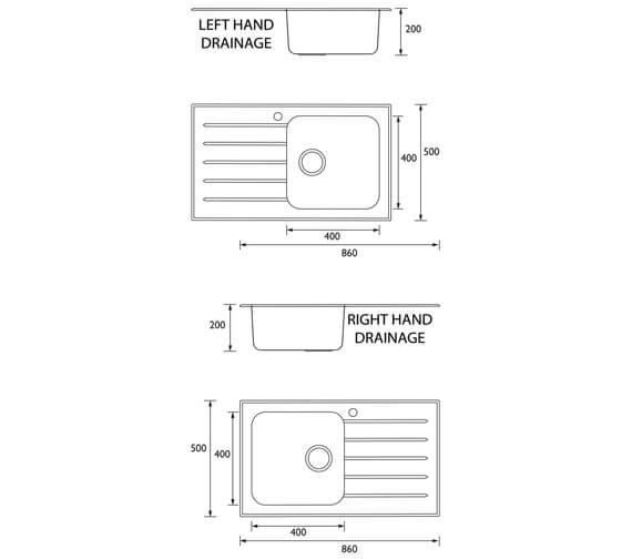 Technical drawing QS-V95417 / GLL SKGLA1 BL