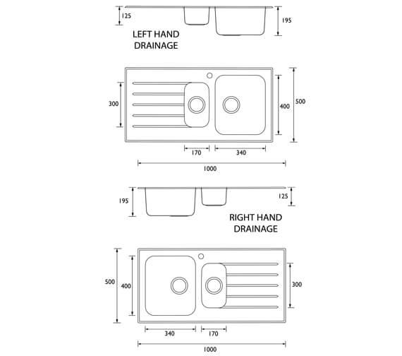 Technical drawing QS-V95418 / GLL SKGLA1.5 BL