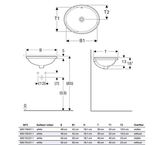 Technical drawing QS-V94623 / 500.748.01.1