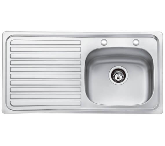 Bristan Inox 2 Tap Hole 1.0 Kitchen Sink - SK INXTT1 SL