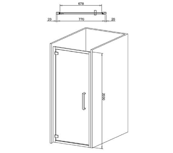 Technical drawing QS-V99552 / IHDSC0800+