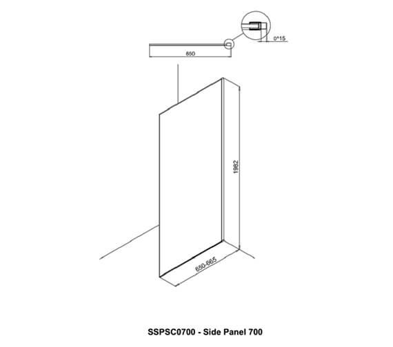 Technical drawing QS-V94145 / SSPSC0700