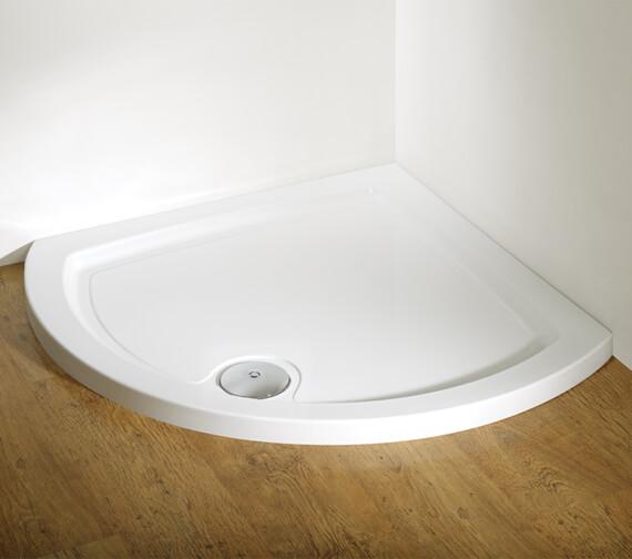 Kudos Concept Curved Quadrant Acrylic Tray White