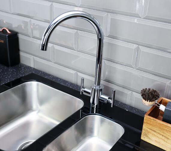 Alternate image of Bristan Gallery Glacier Easyfit 1.5 Kitchen Sink - GLL SKGLA1.5 BL