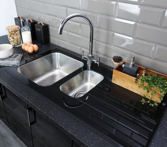 Bristan Gallery Glacier Easyfit 1.5 Kitchen Sink - GLL SKGLA1.5 BL