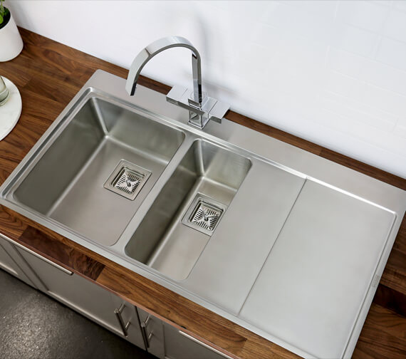 Bristan Ingot 1.5 Stainless Steel Easyfit Kitchen Sink - SK ING1.5 SL