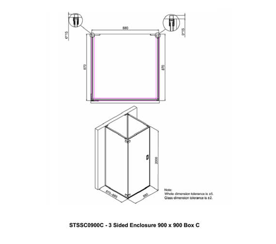 Technical drawing QS-V94146 / STSSC0900