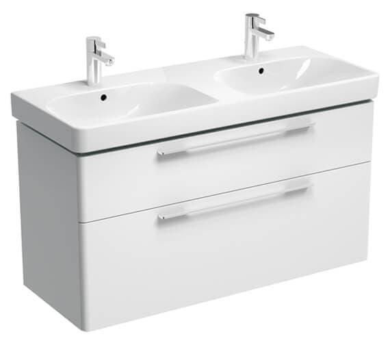 Geberit Smyle 1170 x 490mm Two Drawers Double Washbasin Unit