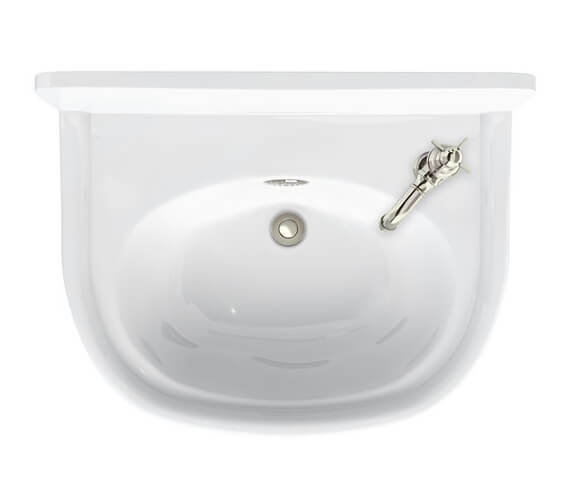 Burlington Arcade 500mm Cloakroom Basin 1 Tap Hole Right Hand With Overflow