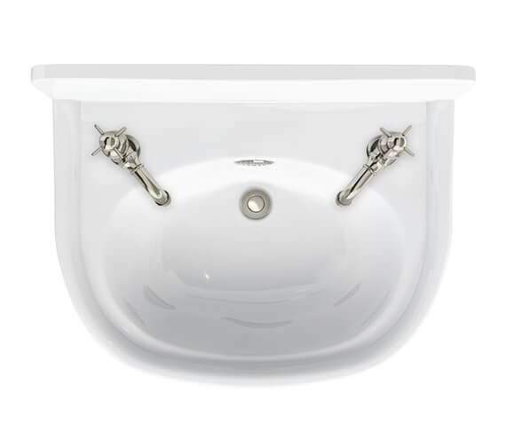 Additional image of Burlington Arcade 500mm Cloakroom Basin 1 Tap Hole Right Hand With Overflow